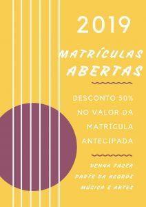 MATRICULAS ABERTAS 2019