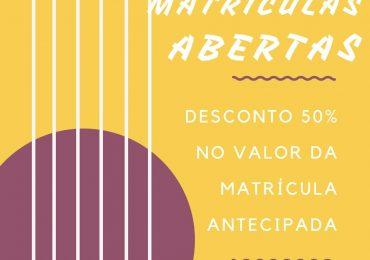 DESCONTO 50% NO VALOR DA MATRÍCULA ANTECIPADA